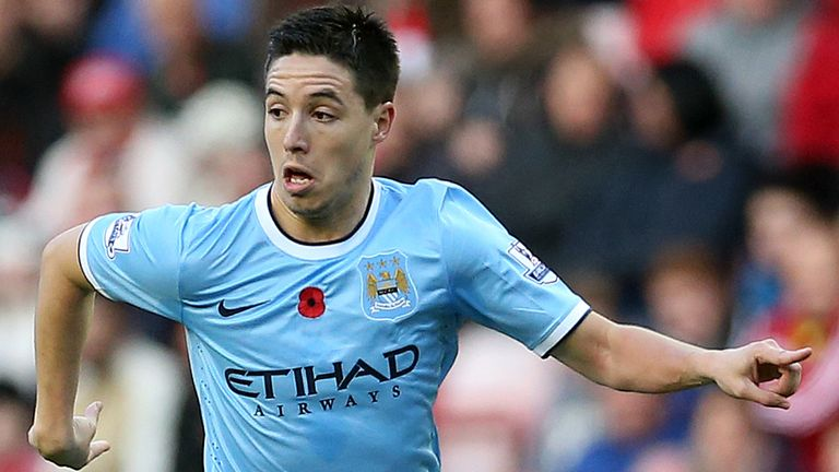 Samir Nasri: Enjoying his football at Manchester City again