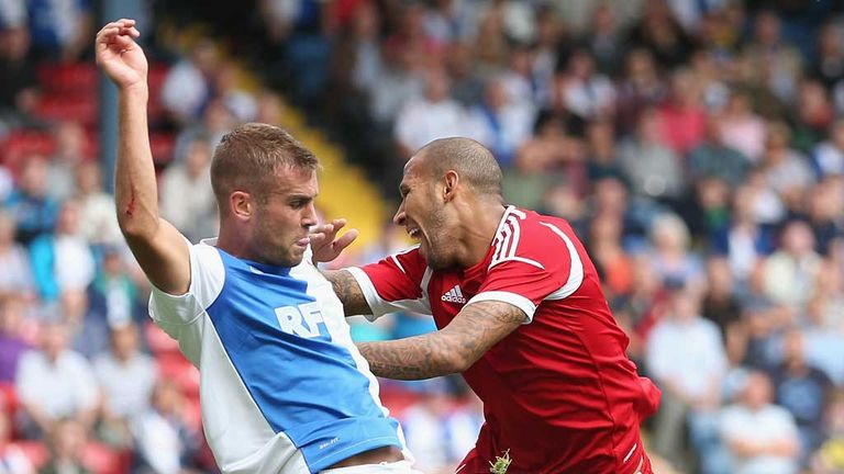 Kelvin Wilson: In action against Blackburn earlier in the season