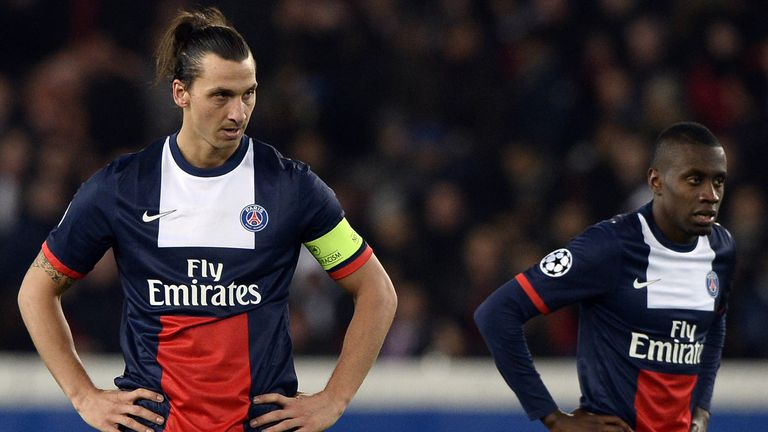 Zlatan Ibrahimovic: Shows his frustration