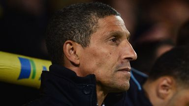 Chris Hughton: Norwich boss has lost Robert Snodgrass and Anthony Pilkington
