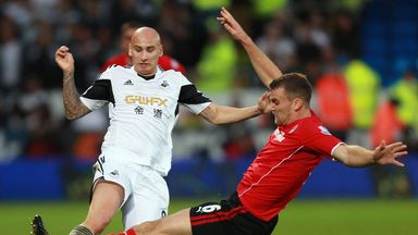 Jonjo Shelvey in action against Cardiff