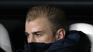 Joe Hart: Manchester City goalkeeper may be on bench at Wembley