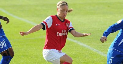 Jordan Nobbs netted Arsenal's second goal at Petershill Park in Glasgow, where the English club reached the last eight of the UEFA Women's Champions League