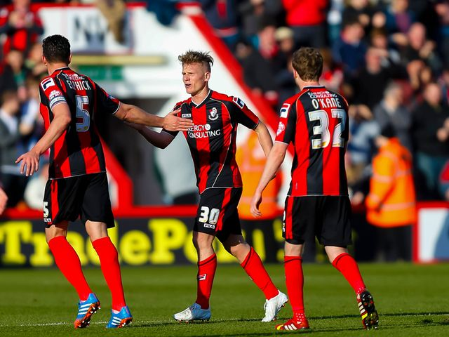 Matt Ritchie (centre) got Bournemouth's first goal