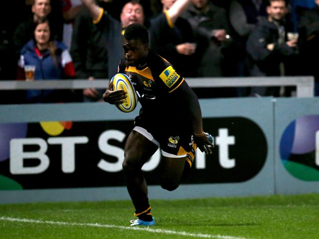 Christian Wade scored two tries for Wasps