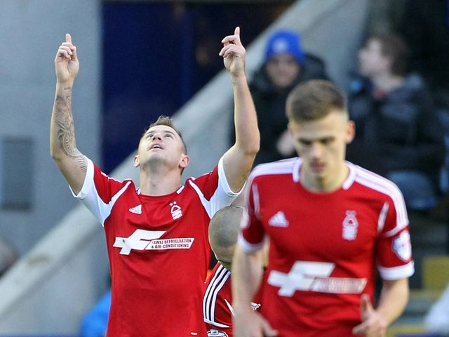 Simon Cox: Struck for Forest just after half time