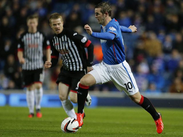David Templeton in action for Rangers.