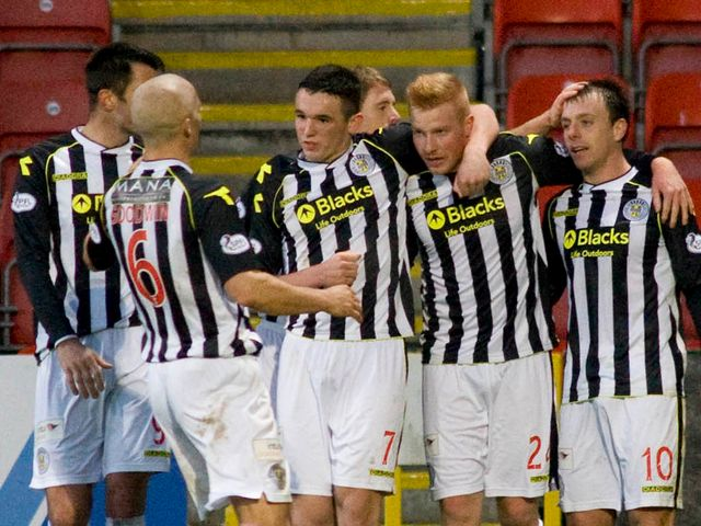 St Mirren celebrate against Partick