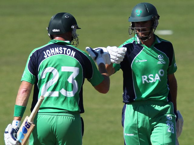 Trent Johnston (left): Smashed 62 off 32 balls