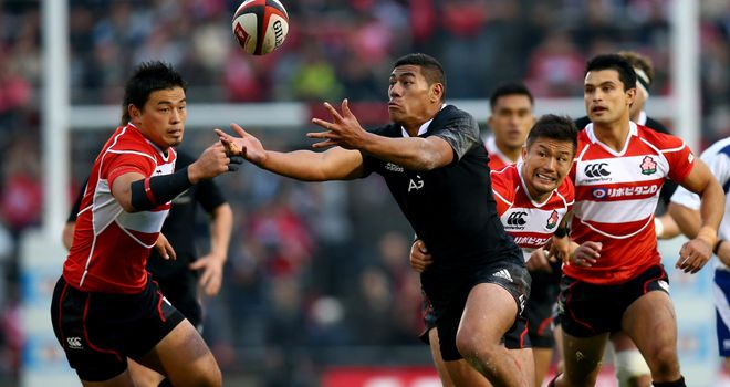 Charles Piutau scored twice for New Zealand