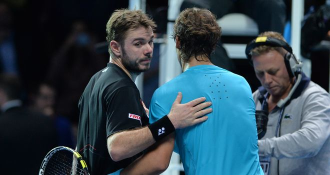 Wawrinka (L) lost to Nadal in two tiebreaks