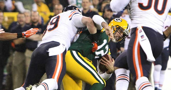 Aaron Rodgers: Has not played since defeat to Bears