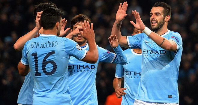 Sergio Aguero and Alvaro Negredo sent City into last 16 for the first time