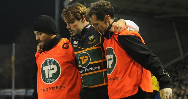 Ben Foden: Had to be helped off after suffering knee injury against Newcastle