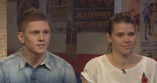 Savannah Marshall (R): During her appearance on Ringside with fellow Sports Scholar Jason Quigley
