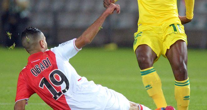 Monaco's midfielder Mounir Obbadi was on the scoresheet