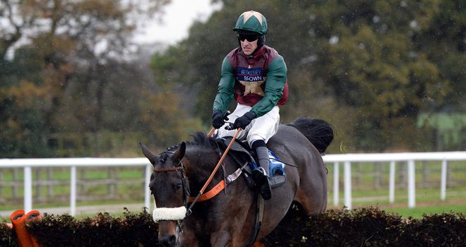Oscar Rock winning at Wetherby