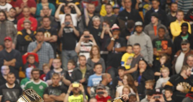 Orton and Cena: will collide for WWE's ultimate prize at the Royal Rumble