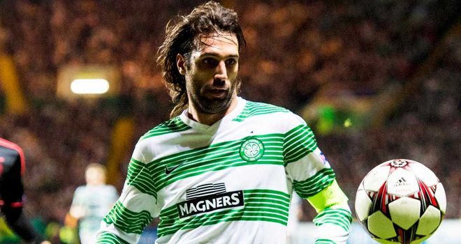 Georgios Samaras: Celtic ace has a knee injury and may miss Dundee United clash