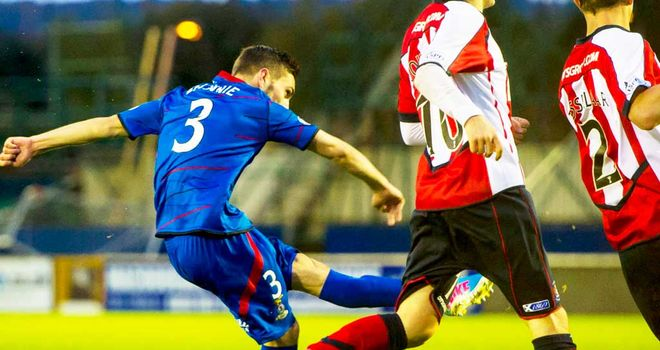 Graeme Shinnie: Scores the second Inverness goal against Kilmarnock