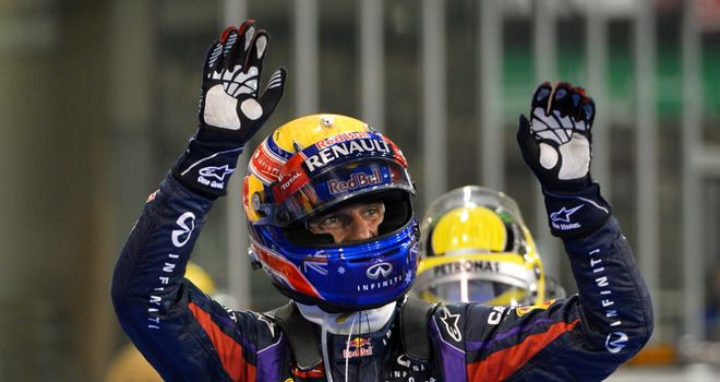 Mark Webber: 13th pole position of his career