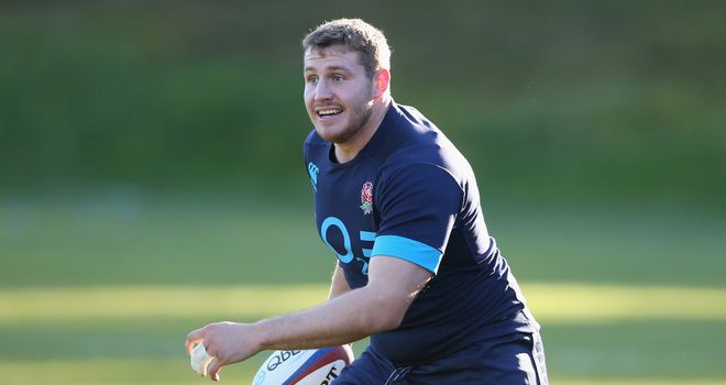 Ben Morgan: Takes part during an England training at Pennyhill Park