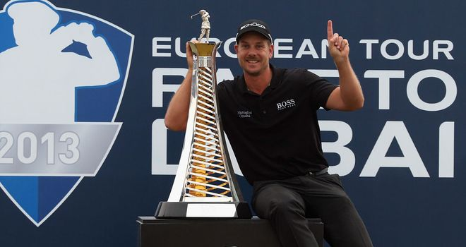 Henrik Stenson: Has won both the Race to Dubai and FedEx Cup in 2013