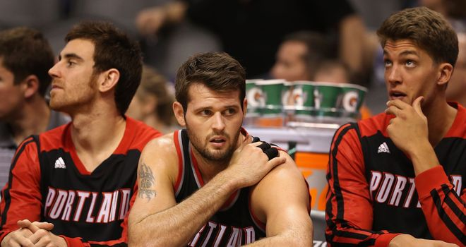 Joel Freeland: Portland Trail Blazers' British centre logged 14 minutes off the bench