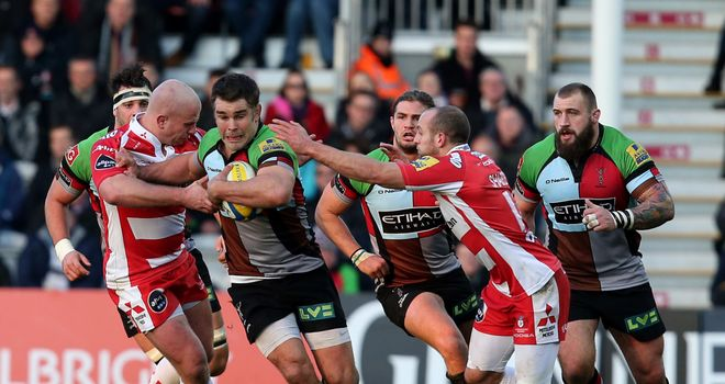Nick Easter: Scores Harlequins' opening try of the contest