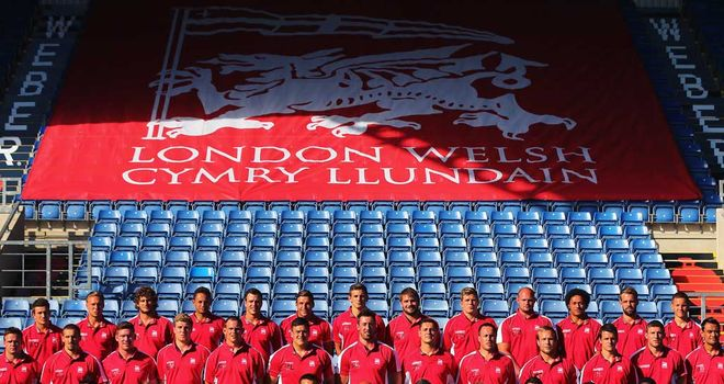 The London Welsh squad poses for a pre-season picture