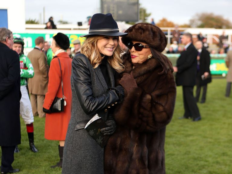 Some well-dressed famous people at Newbury