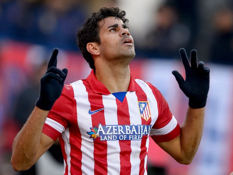 Diego Costa scored as Atletico Madrid beat Athletic Bilbao.