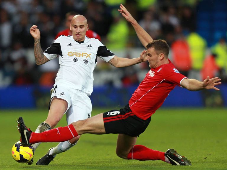Jonjo Shelvey (l): Could face action for alleged 'gesture'