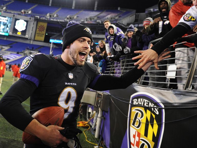 Justin Tucker: Landed five field goals for the Baltimore Ravens