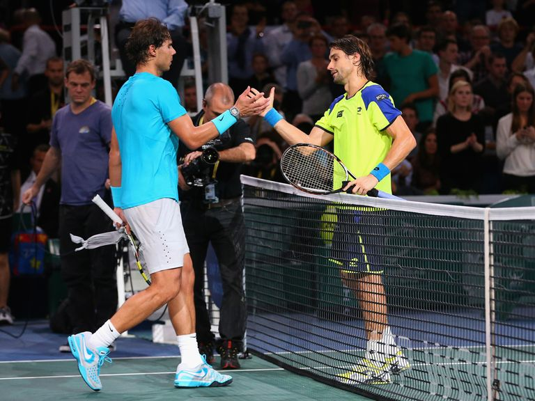 Rafael Nadal was beaten by David Ferrer in the semi-finals