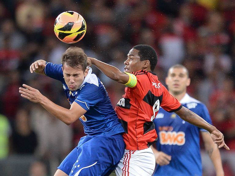 Everton Ribeiro (L): Cruzeiro midfielder has been linked with Manchester United