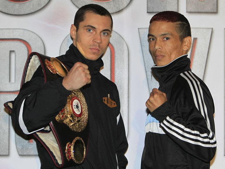 Scott Quigg (l): Set to face Diego Silva (Photo: Lawrence Lustig)