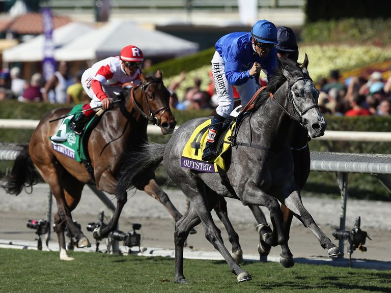 Outstrip swoops late to win the Juvenile Turf