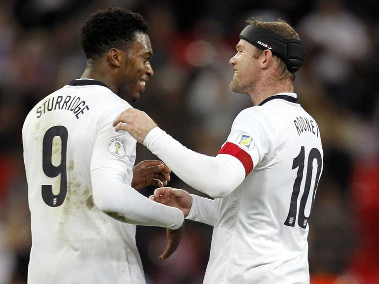 Sturridge (l) and Rooney could be Hodgson's forward pairing in Brazil