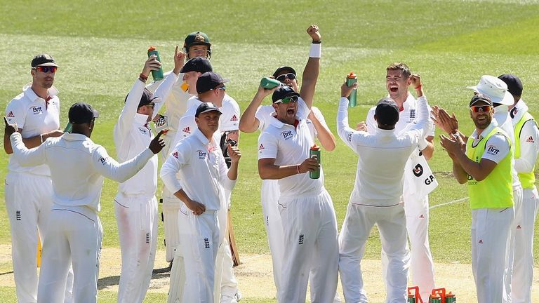 England's players at last had reason to cheer on day two of the fourth Test