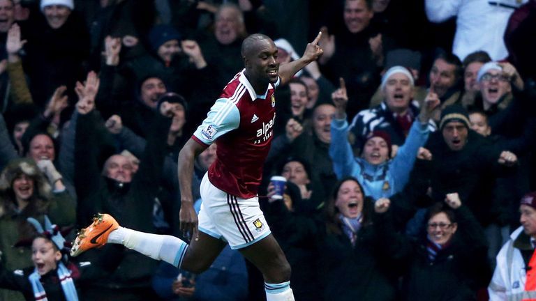 Carlton Cole: Celebrates giving his side the lead on Boxing Day