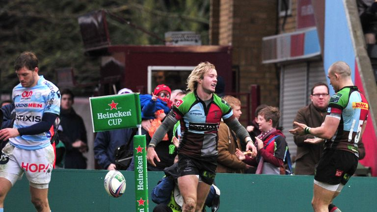 Charlie Walker: Try scorer in Harlequins last outing in the Heineken Cup