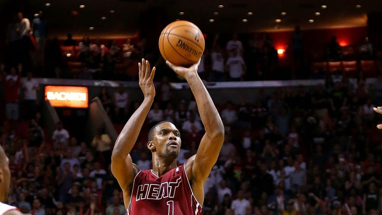 Chris Bosh: Played key role in the Miami Heat's win over the Portland Trail Blazers