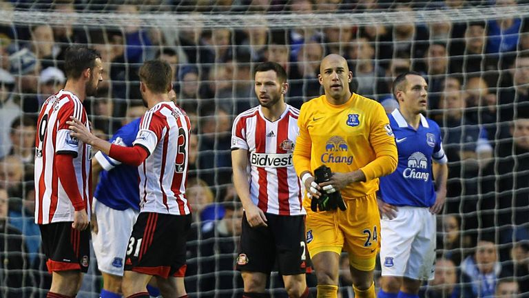 Tim Howard: Sent off in Everton's 1-0 home defeat by Sunderland