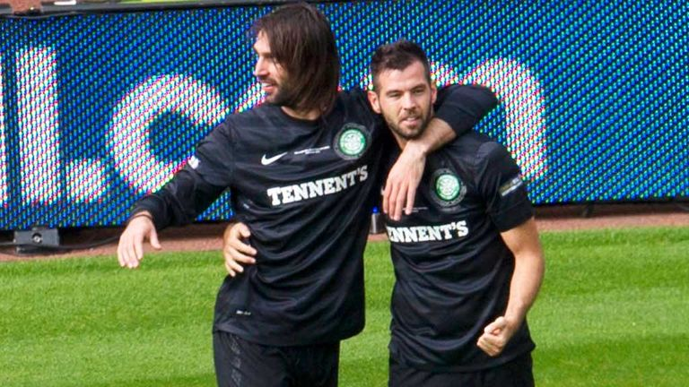 Georgios Samaras and Joe Ledley (right) are out of contract at Celtic next summer