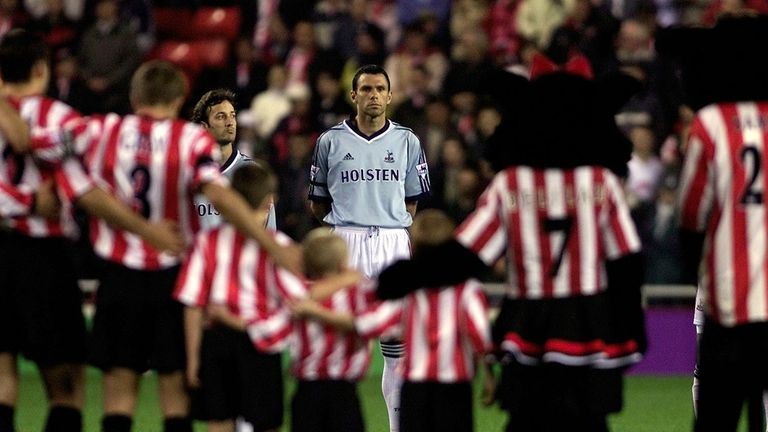 Gus Poyet made 82 appearances for Tottenham, beating Sunderland three times in four games