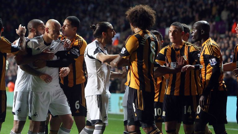 Swansea and Hull have both been fined £20,000 for the fracas on 9 December