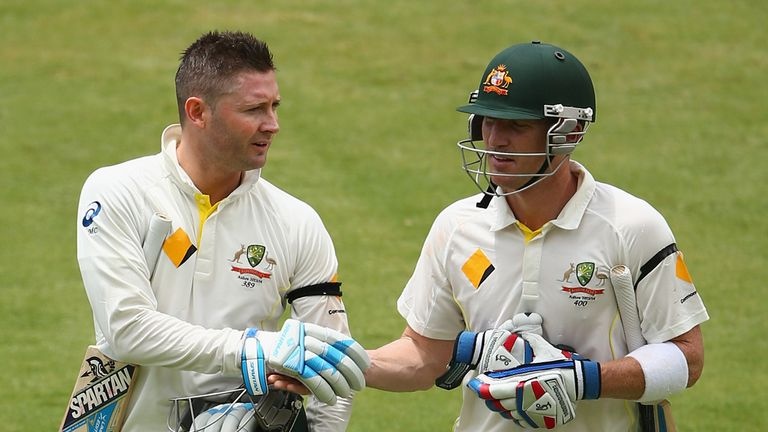 Michael Clarke and Brad Haddin ensured England endured a difficult day in Adelaide