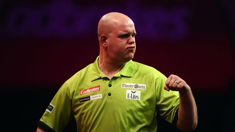 Van Gerwen: takes on van Barneveld in Dutch showdown