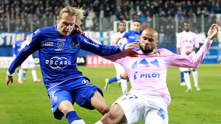 Milos Krasic (l) opened the scoring for Bastia